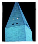 Washington Monument At Night Fleece Blanket