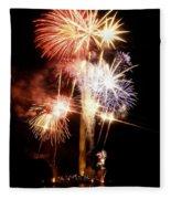 Washington Monument Fireworks 2 Fleece Blanket