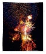 Washington Monument Fireworks 3 Fleece Blanket