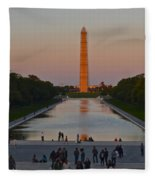 Washington Monument Fleece Blanket