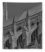 Washington National Cathedral  Bw Fleece Blanket