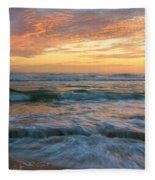 Washington Oaks At Low Tide Fleece Blanket