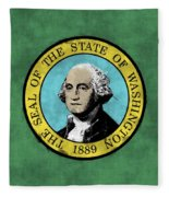 Washington State Flag Fleece Blanket