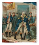 Washington Taking Leave Of His Officers Fleece Blanket