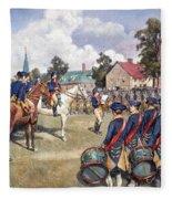 Washingtons Army, 1776 Fleece Blanket