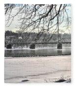 Washingtons Crossing Winter Fleece Blanket