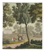 Washingtons House At Mount Vernon Fleece Blanket