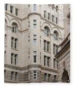 Washington Buildings Fleece Blanket