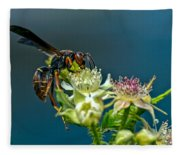 Wasp Fleece Blanket