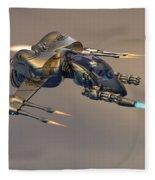 Wasp Fighter Fleece Blanket