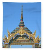 Wat Amarintaram Temple Gate Dthb1524 Fleece Blanket