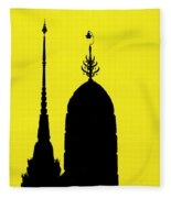 Wat Arun - Temple Of The Dawn Fleece Blanket