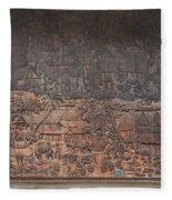 Wat Chai Monkol Phra Ubosot Diorama Of Village Life Dthcm0856 Fleece Blanket
