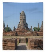 Wat Chaiwatthanaram From The East Dtha0187 Fleece Blanket