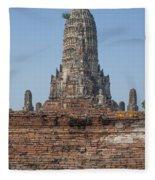 Wat Chaiwatthanaram Ubosot Platform And Buddha Images Dtha0189 Fleece Blanket