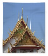 Wat Chumphon Nikayaram Phra Ubosot Gables Dtha0125 Fleece Blanket