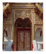 Wat Dok Eung Phra Ubosot Entrance Dthcm0353 Fleece Blanket