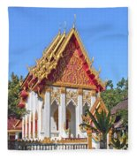 Wat Khong Chiam Ubosot Dthu085 Fleece Blanket