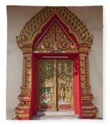 Wat Liab Ubosot Center Door Dthu349 Fleece Blanket