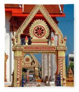 Wat Liab Ubosot Gateway Dthu039 Fleece Blanket