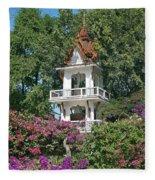 Wat Mahawanaram Bell And Drum Tower Dthu661 Fleece Blanket