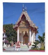 Wat Mahawanaram Ubosot Dthu652 Fleece Blanket