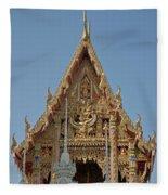Wat Na Kwai Ubosot Front Gable Dthu161 Fleece Blanket