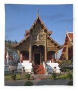Wat Phra Singh Phra Ubosot Dthcm0246 Fleece Blanket