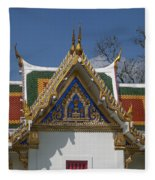 Wat Phrasri Mahathat Ubosot North Wing Gable Dthb1469 Fleece Blanket