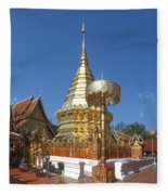 Wat Phratat Doi Suthep Golden Chedi Dthcm0002 Fleece Blanket