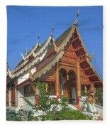 Wat Phuak Hong Phra Wihan Dthcm0582 Fleece Blanket