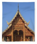 Wat Phuak Hong Phra Wihan Gable Dthcm0575 Fleece Blanket