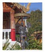 Wat Phuak Hong Phra Wihan Monk Figure Dthcm0579 Fleece Blanket