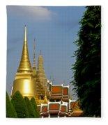 Wat Po 1 Fleece Blanket