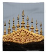 Wat Roof Detail Fleece Blanket