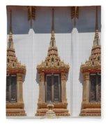 Wat Sapum Thammaram Ubosot Windows Dthp227 Fleece Blanket