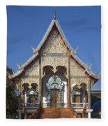 Wat Sri Don Chai Phra Wiharn Dthcm0084 Fleece Blanket