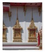 Wat Suwan Khiri Khet Ubosot Windows Dthp273 Fleece Blanket