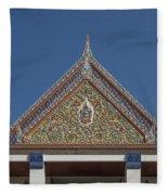 Wat Thewasunthon Preaching Hall Gable Dthb1423 Fleece Blanket