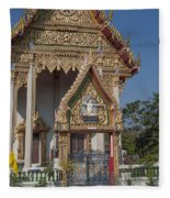 Wat Thewasunthon Ubosot Gate Dthb1420 Fleece Blanket