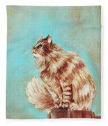 Watch Cat Fleece Blanket