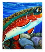 Brook Trout  Fleece Blanket