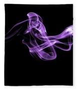 Watch The Flow - Purple Fleece Blanket