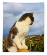Watching The Rainbow Fleece Blanket