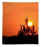 Watching The Sun Rise Fleece Blanket