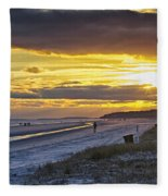Watching The Sun Set Fleece Blanket
