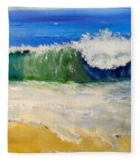 Watching The Wave As Come On The Beach Fleece Blanket