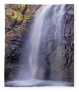 Watefall At The Mountains Fleece Blanket