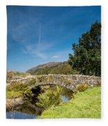 Watendlath Stone Footbridge Vertical Fleece Blanket