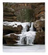 Water And Ice Flow Fleece Blanket